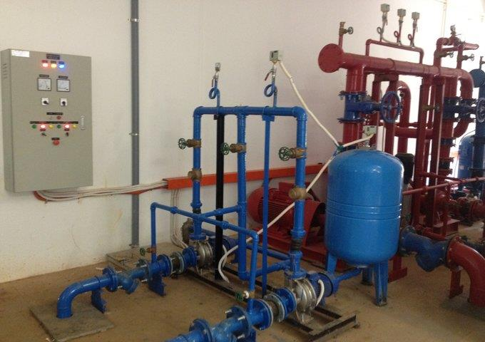 Design, installation of equipment for water treatment system Terracotta Resort & Spa.